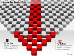 0914 Arrow And Leader Cube Image Graphics For PowerPoint