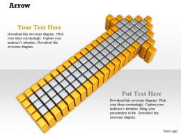 0914 Arrow Blocks Growth Strategy Image Slide Image Graphics For Powerpoint