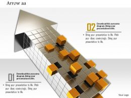 0914 Arrow Cubes And Golden Cubes Coming Out Image Slide Image Graphics For Powerpoint