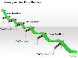 0914 Arrow Jumping Over Hurdles Image Graphics For PowerPoint