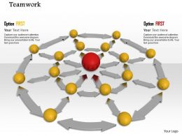 0914 Balls Connected To Center Big Ball Image Graphics For PowerPoint