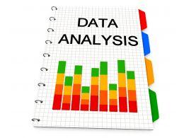 0914 Bar Graph For Data Analysis Stock Photo