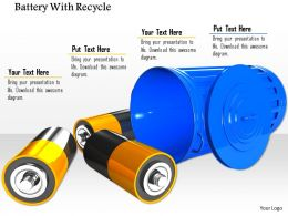 0914 Battery With Recycle Bin Energy Saving Image Slide Template Image Graphics For Powerpoint