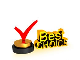0914 Best Choice Text With Red Check Mark Stock Photo