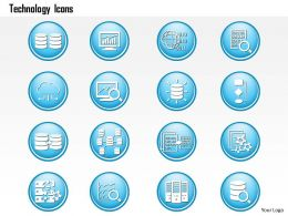 0914 Big Data Technology Icons Analytics Storage Replication Dashboard Magnify Ppt Slide