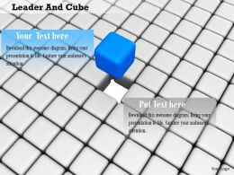 0914 Blue Cube As Leader Among Cubes Background Image Graphics For PowerPoint
