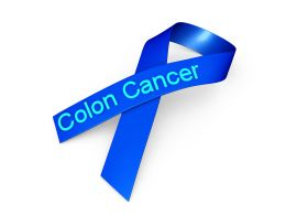 0914 Blue Ribbon For Colon Cancer Awareness Stock Photo
