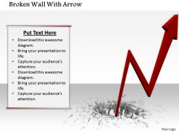 0914 Broken Wall With Arrow Growth Concept Image Slide Image Graphics For Powerpoint