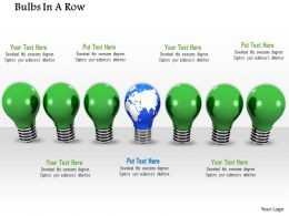 0914 Bulb In Row Individual Globe Bulb Energy Image Slide Image Graphics For Powerpoint