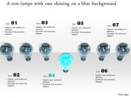 0914 Bulbs In A Row With One Shining Image Graphics For PowerPoint