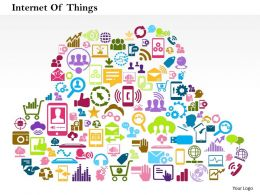 0914 Business Consulting Cloud Internet Of Things Social Media Icons For Networking powerpoint Slide Template