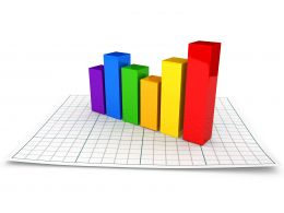 0914 Business Graph To Present Statistical Information Stock Photo