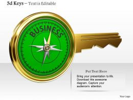 0914 Business Key Meter Compass Image Graphics For PowerPoint