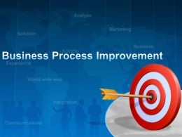 0914 Business Performance Improvement Powerpoint Presentation