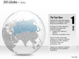 0914 Business Plan 3d Binary Globe Vector Asia Highlighted PowerPoint Presentation Template