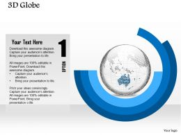 0914 Business Plan 3d Binary Globe Vector In Circular Diagram PowerPoint Presentation Template