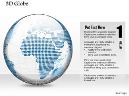 0914 Business Plan 3d Blue Color Binary Globe Vector PowerPoint Presentation Template