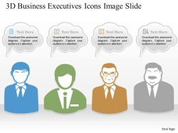 0914 Business Plan 3d Business Executives Icons Image Slide Powerpoint Template