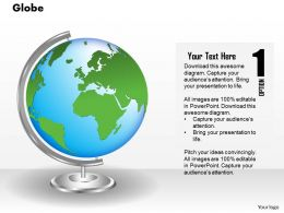 0914 Business Plan 3d Earth Globe Atlas With Stand PowerPoint Presentation Template