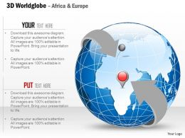 0914 Business Plan 3d Globe Enclosed In Arrow Marked With Africa And Europe PowerPoint Presentation Template