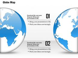 0914 Business Plan 3d Globe Half View With Different Locations PowerPoint Presentation Template