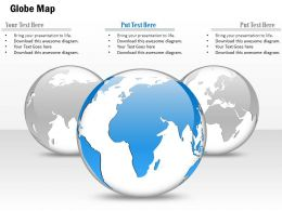 0914 Business Plan 3d Globe In Grey And One Blue Globe PowerPoint Presentation Template