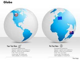 0914 Business Plan 3d Globe With Flag Of Countries Pin PowerPoint Presentation Template