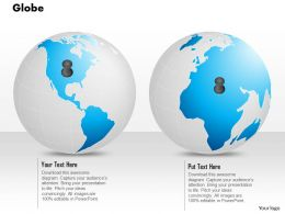 0914 Business Plan 3d Globes With Location Pins On Different Locations PowerPoint Presentation Template