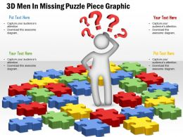 0914 Business Plan 3d Men In Missing Puzzle Piece Graphic Powerpoint Template