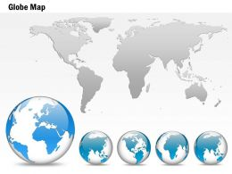 0914 Business Plan 3d Small Area Specific Globe With World Map PowerPoint Presentation Template