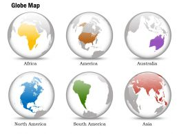 0914 Business Plan 3d Small Globes With Location Highlights Powerpoint Presentation Template