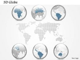 0914 Business Plan 3d Specific Globes With World Map PowerPoint Presentation Template