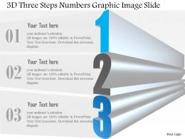 0914 Business Plan 3d Three Steps Numbers Graphic Image Slide Powerpoint Template