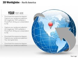 0914 Business Plan 3d World Arrow Enclosed Globe With Location Icon PowerPoint Presentation Template