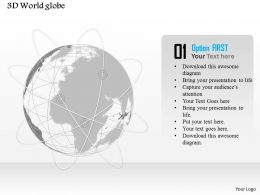0914 Business Plan 3d World Globe With Network Lines PowerPoint Presentation Template