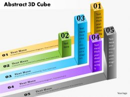 0914 Business Plan Abstract 3d Cube Bars Colorful Business Information Powerpoint Template