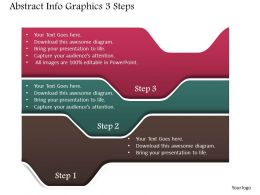 0914 Business Plan Abstract Info Graphics 3 Steps Powerpoint Presentation Template