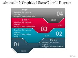 0914 Business Plan Abstract Info Graphics 4 Steps Colorful Diagram Powerpoint Template