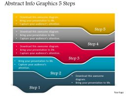 0914 Business Plan Abstract Info Graphics 5 Steps Powerpoint Presentation Template