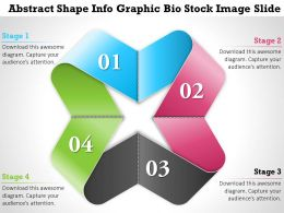 0914 Business Plan Abstract Shape Info Graphic Bio Stock Image Slide Powerpoint Template