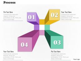 0914 Business Plan Abstract Shape Process Info Graphic Image Slide Powerpoint Template