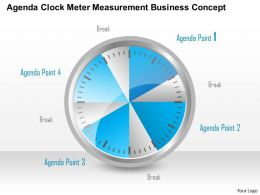 0914 Business Plan Agenda Clock Meter Measurement Business Concept Powerpoint Template