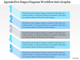 0914 Business Plan Agenda Five Stages Diagram Workflow Info Graphic Powerpoint Presentation Template