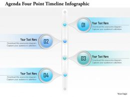 0914 Business Plan Agenda Four Point Timeline Infographic Powerpoint Presentation Template