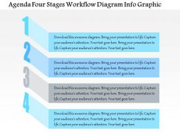 0914 Business Plan Agenda Four Stages Workflow Diagram Info Graphic Powerpoint Presentation Template