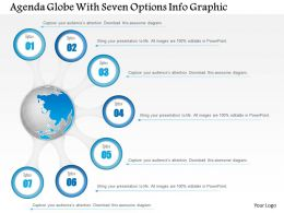 0914 Business Plan Agenda Globe With Seven Options Info Graphic Powerpoint Presentation Template