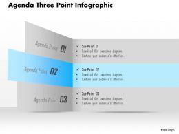 0914 Business Plan Agenda Three Point Infographic Powerpoint Presentation Template