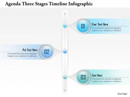 0914 Business Plan Agenda Three Stages Timeline Infographic Powerpoint Presentation Template
