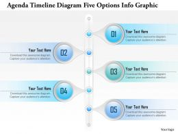 0914 Business Plan Agenda Timeline Diagram Five Options Info Graphic Powerpoint Presentation Template