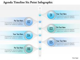 0914 Business Plan Agenda Timeline Six Point Infographic Powerpoint Presentation Template
